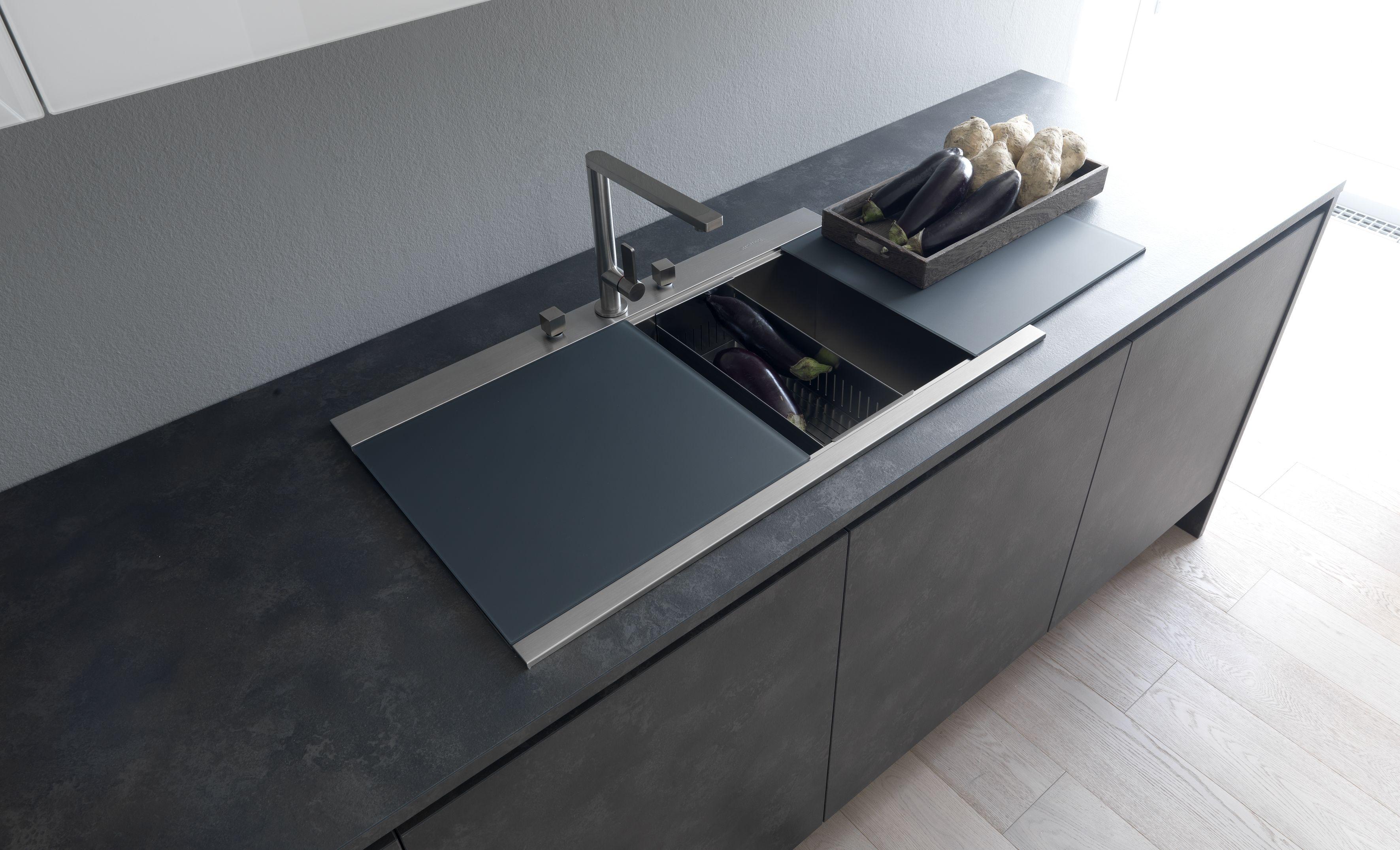 modulnova concept line kitchen sink with the sliding