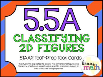 5.5A: Classifying Polygons STAAR Test-Prep Task Cards (5.G.3, 5.G.4)