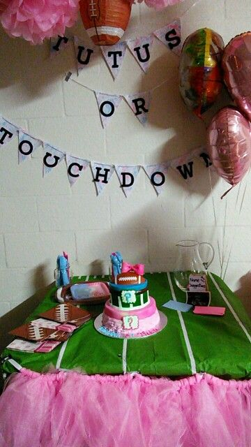 Tutus Or Touchdowns Baby Gender Reveal Party Gender Reveal Party Baby Gender Reveal