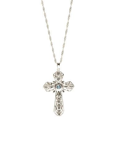 Another great find on zulily blue diamond sterling silver cross another great find on zulily blue diamond sterling silver cross pendant necklace mozeypictures Choice Image