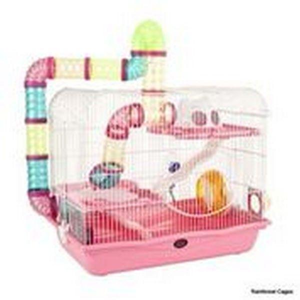 Henry Explorer 2 Syrian Hamster Gerbil Cage Pink Fraser Promotions Ltd With Images Hamster Cages Hamster Cage Large Hamster Cages