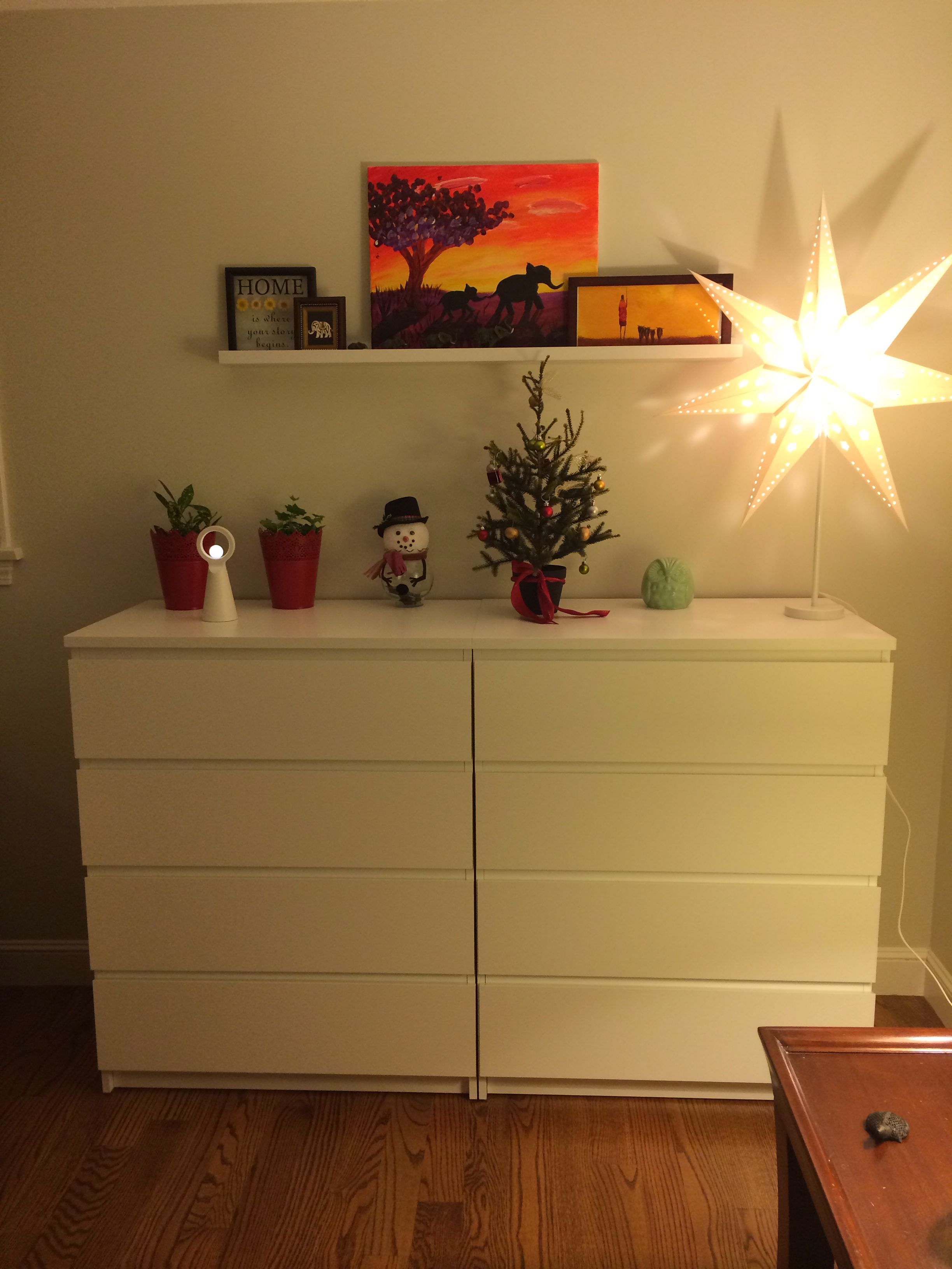Ikea Malm Dressers  4 Drawer Side By Side