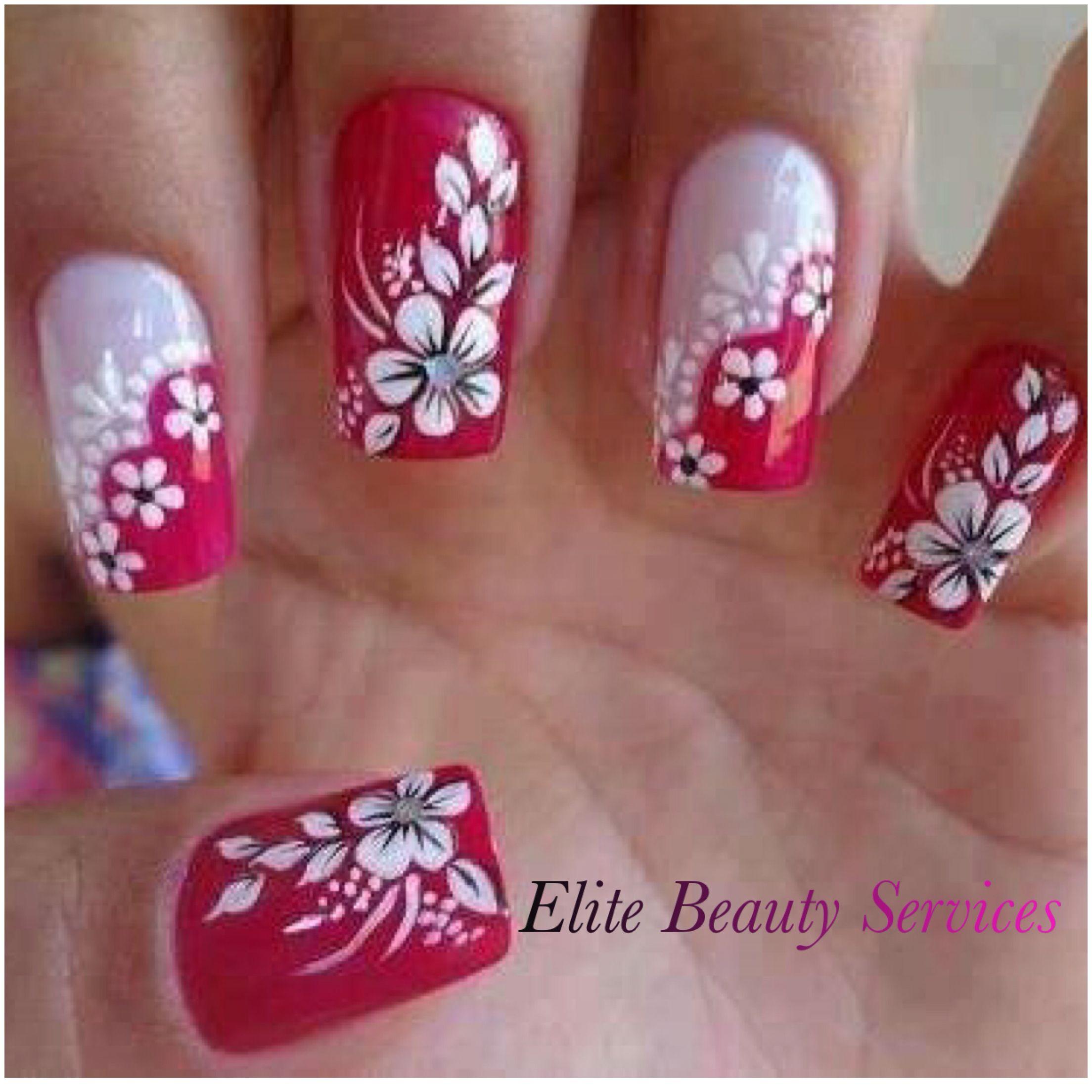 Flowers nail design   Nails   Pinterest