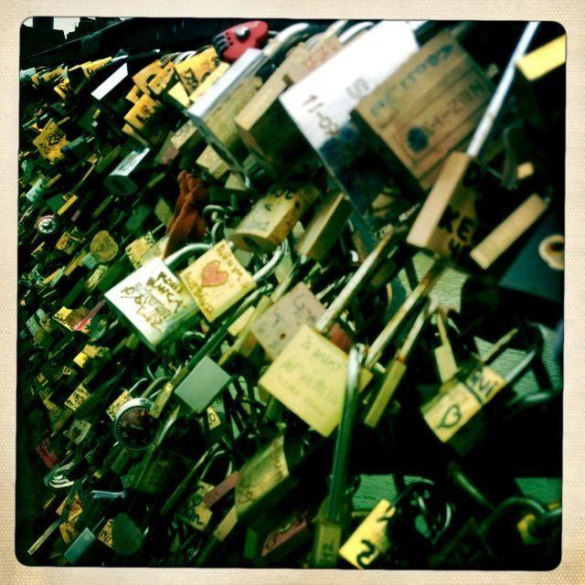 Locks on the lover's bridge ❤