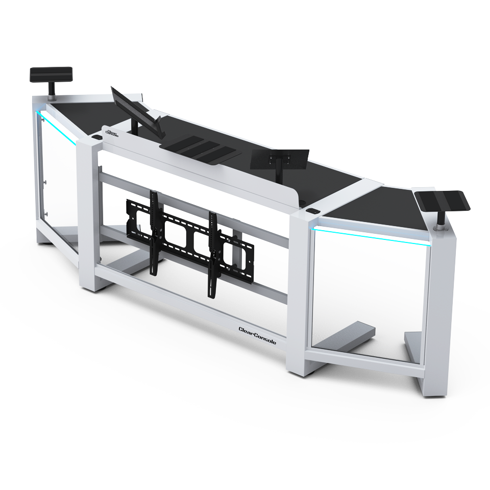 The X Dj Booth Is The Newest Addition To The Clearconsole Dj Booths Product Line It Folds Into A Compact Assembly And Is Portable An Dj Booth Dj Room Dj Stand