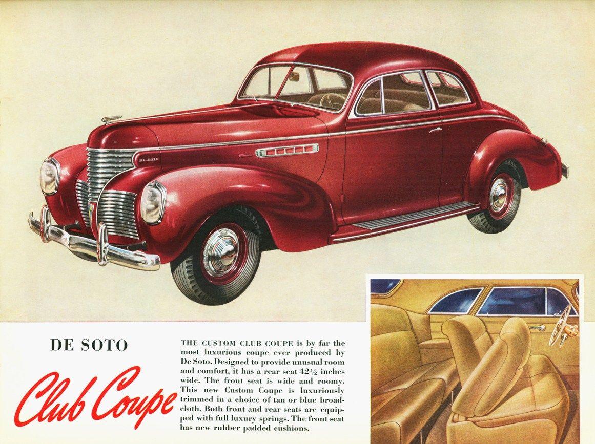1939 Desoto Club Coupe Desoto Cars Automobile Desoto