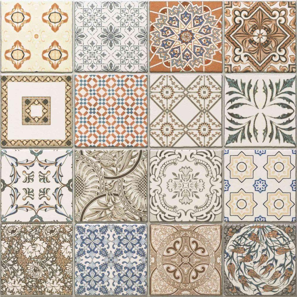 45x45 Cm Porcelain Moroccan Style Floor Wall Patchwork Tiles
