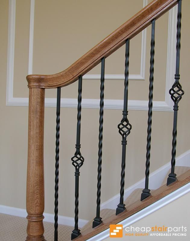 16.1.21 Long Single Twist Iron Baluster - Cheap Stair Parts