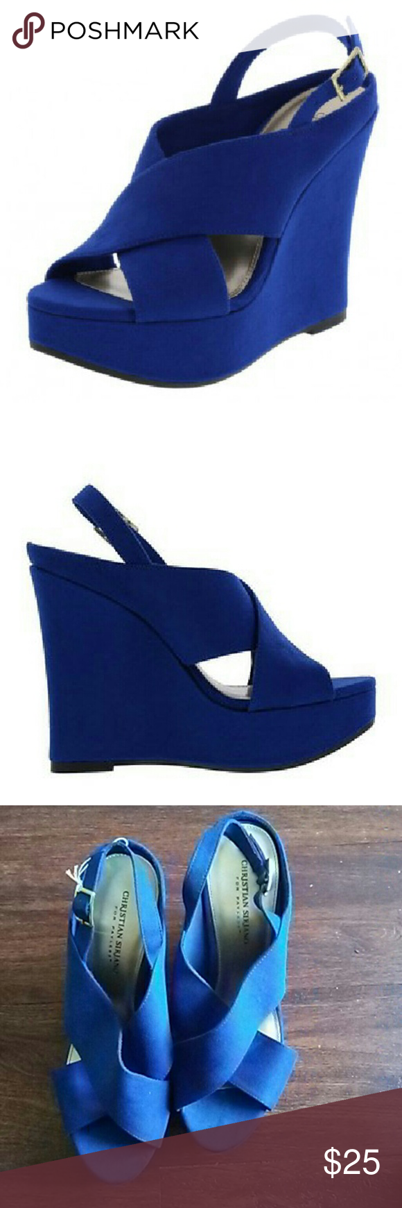 Christian Siriano Wedges- Size 11