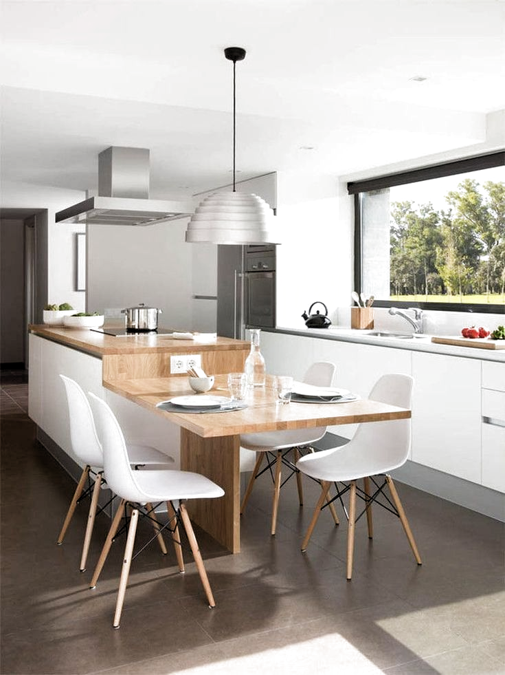 Welcher Holztisch Für Jedes Ein Skandinavisches Esszimmer Mit Holzplatte Und Küchenreform In Sant Cugat D Mesas De Cocina Muebles De Cocina Encimeras De Madera