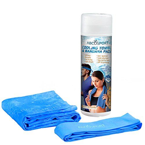 Cooling Towel - Cooling Bandana Pack- Yoga Towel - Keep Cool While Running - Hiking And all Other Sports - Beautiful Tube Packaging Abco Tech http://www.amazon.com/dp/B00VKSR6LM/ref=cm_sw_r_pi_dp_wwlCvb1Z065PQ