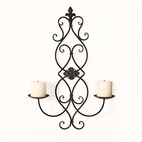 Wall Hanging Candle Holders furnistar iron and glass vertical wall hanging candle holder