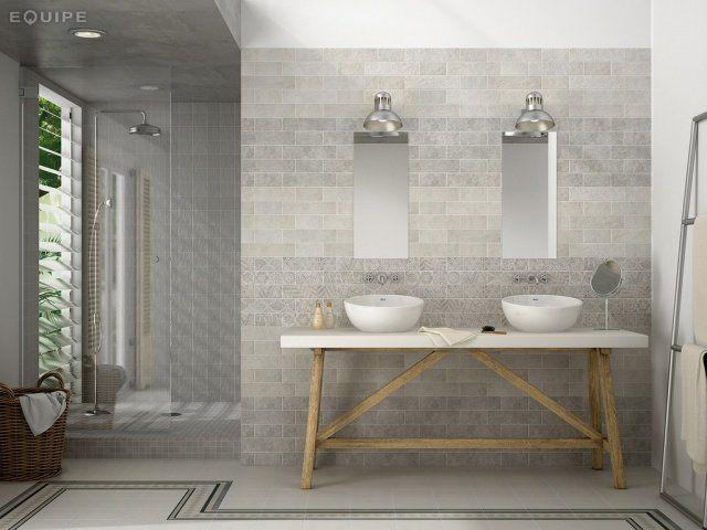 101 photos de salle de bains moderne qui vous inspireront for Salle de bain carrelage gris et beige
