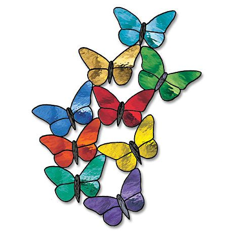 kostenlose Tiffany-Vorlage / Spring Flutters By   butterfly coloring ...