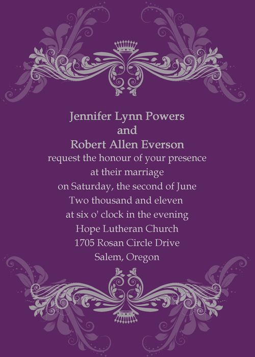 10 perfect trending wedding color combination ideas for 2014 brides wedding invitations onlinepurple - Wedding Invitations Purple