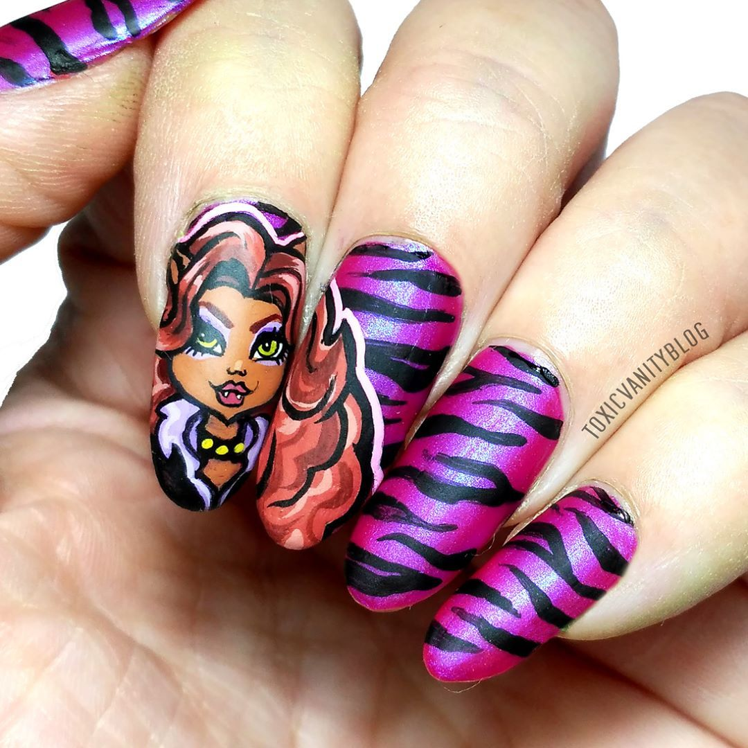 Clawdeen Wolf Nails Monster High Nail Art Nails In 2018