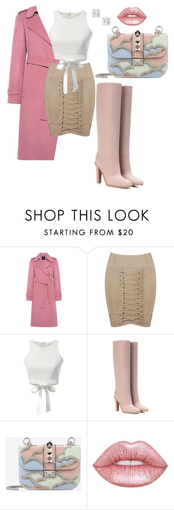 """""""Winter"""" by li-janee on Polyvore featuring Theory, WithChic, Valentino and Lime Crime"""