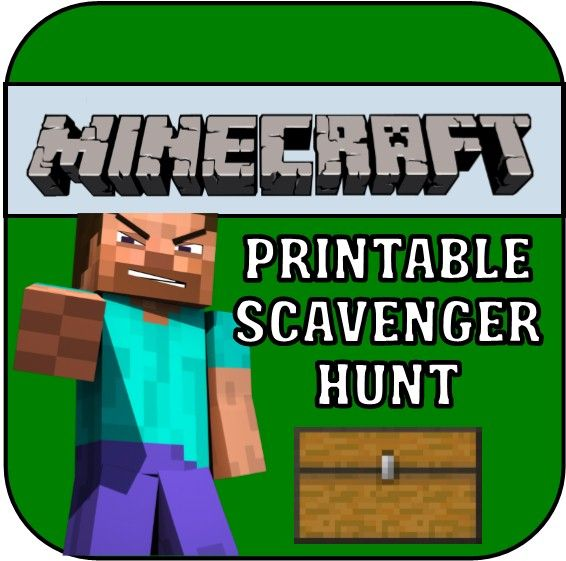Minecraft Scavenger Hunt - this printable treasure hunt is perfect - mine craft invitation template