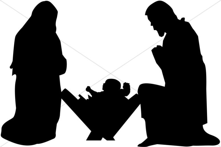 nativity silhouette free nativity clipart clip art graphic image 3 rh pinterest co uk free nativity clipart to print free nativity clipart black and white