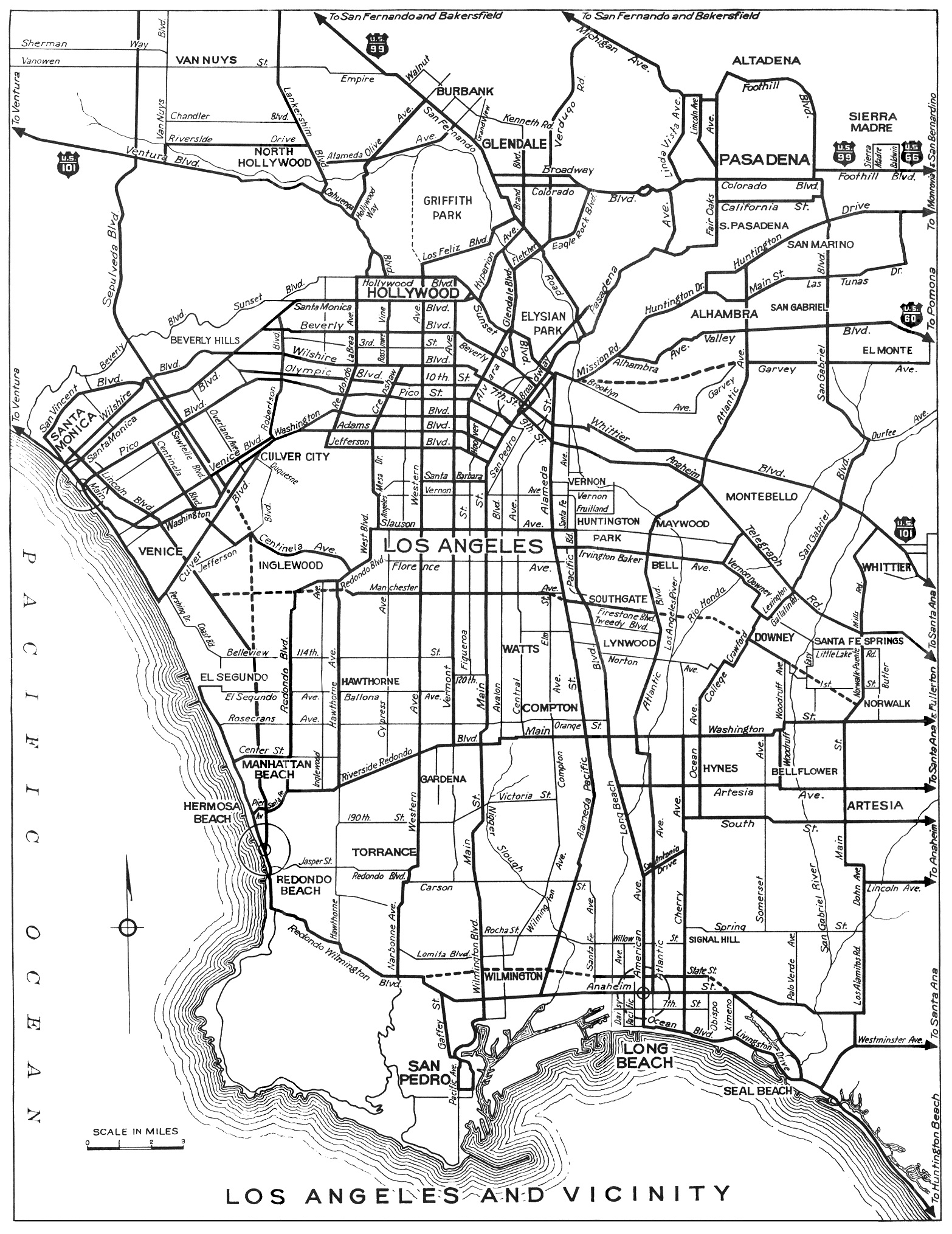 Amazing Old Map Of Los Angeles Los Angeles Map Old Map Map Layout