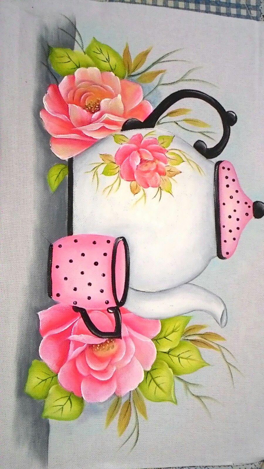 Eleuza bonif cio pano de prato pintado pinterest - Pintura en tela motivos navidenos ...