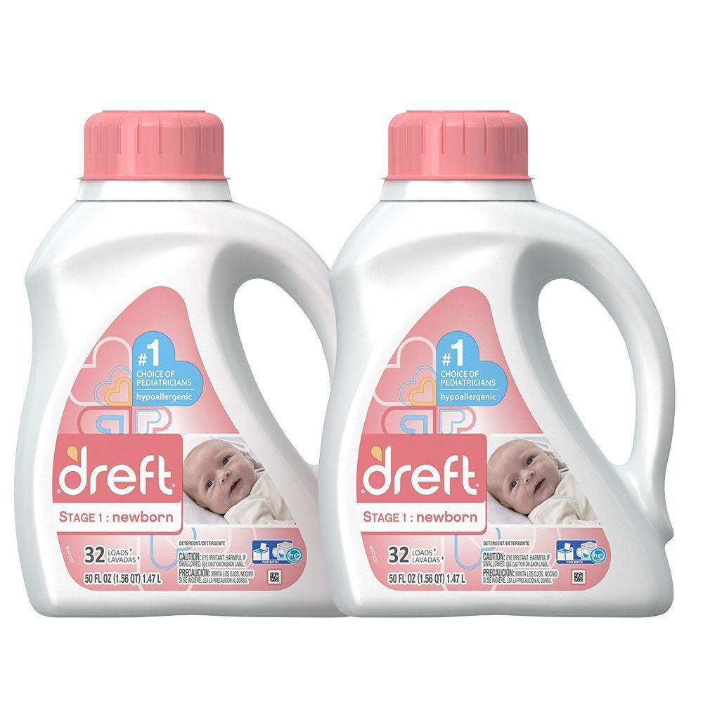 Baby Laundry Detergent Liquid Newborn Stage 1 Hypoallergenic He Soap 2 Count