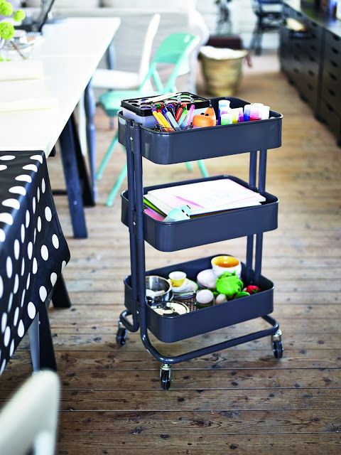 Paint The Cart Navy Blue To Match Playroom Playroom Organization