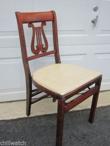 STAKMORE ANTIQUE WOOD FOLDING CHAIR BY ARISTOCRATS OF FOLDING FURNITURE