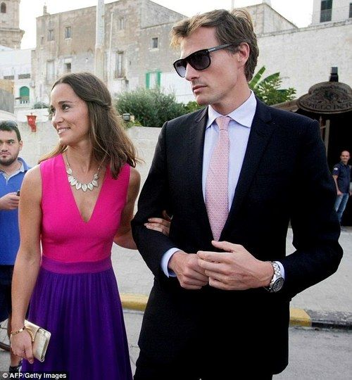 Pippa Middleton took boyfriend Nico Jackson as her guest to the nuptials of Charlie Gilkes and Anneke von Trotha Taylor at the Carlo V Castle in Puglia