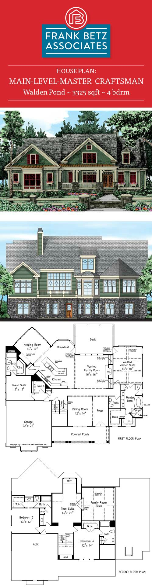 Craftsman Style House Plan Main 81 Best House Plans