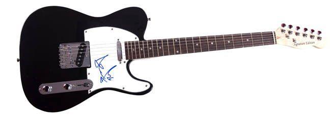 Jiri Hudler Autographed Signed Tele Guitar UACC RD COA