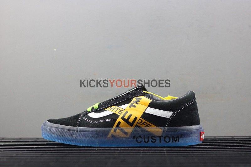 Custom OFF White x Vans | Off white shoes, Hype shoes, Vans