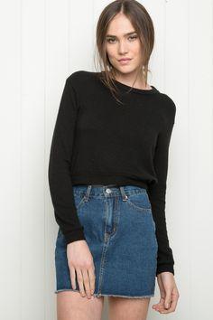 040e6c6a25 Brandy ♥ Melville   Belinda Denim Skirt - Skirts - Bottoms - Clothing