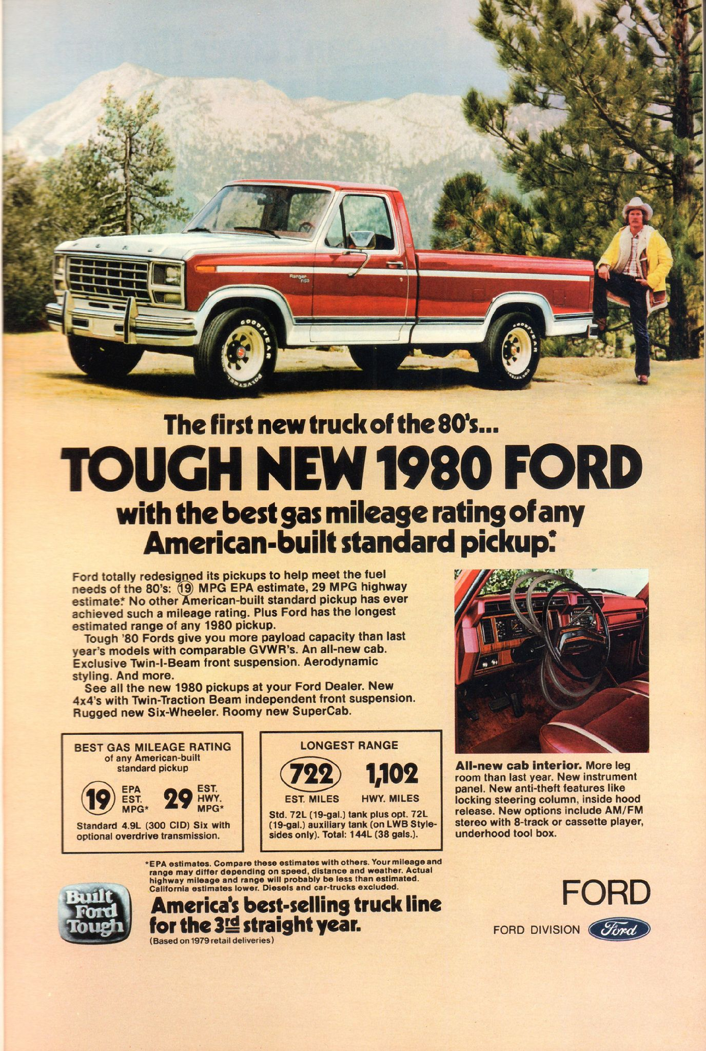 1980 Ford Pickup Truck Advertisement National Geographic April
