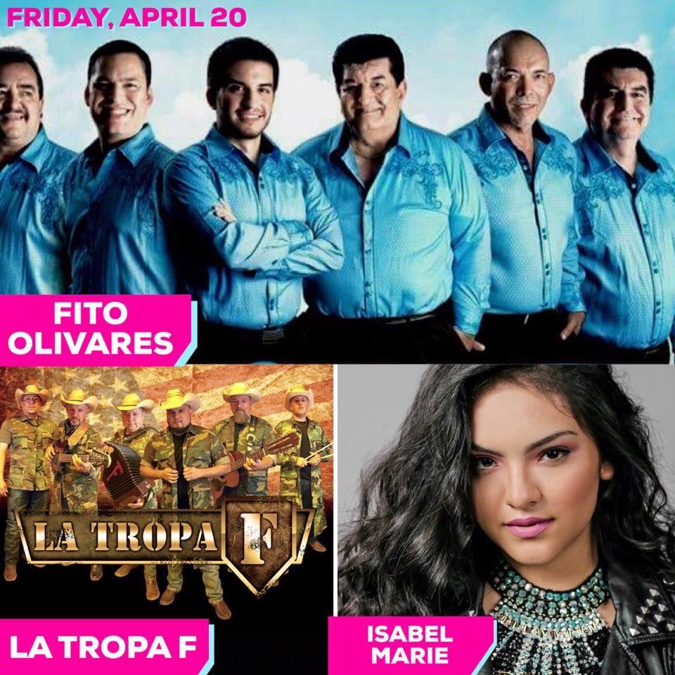 Fito Olivares La Tropa F And Isabel Marie Will Play Friday Night