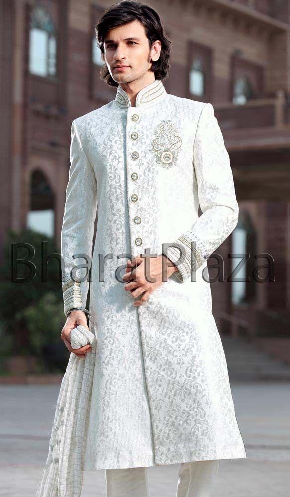 Debonair Off White Sherwani | wedding | Pinterest | Sherwani and ...