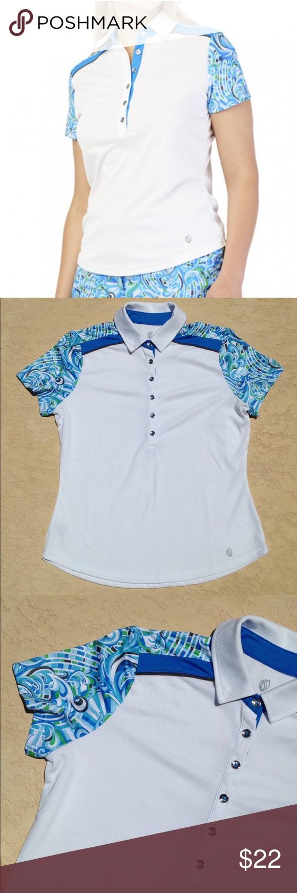 Gg Blue Golf Shirt Nwt Golf Shirts Shirts Fashion