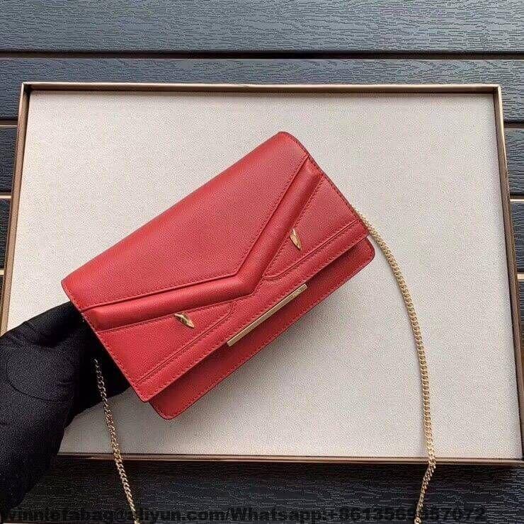 Fendi bag bugs eyes leather wallet on chain bag 2018