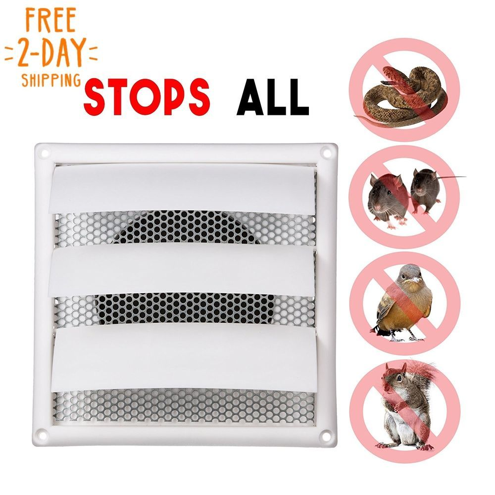 6 Inch Louvered Dryer Air Vent Cap Cover With Pest Guard Metal Screen Easy Inst Venttech Metal Screen Air Vent Installation