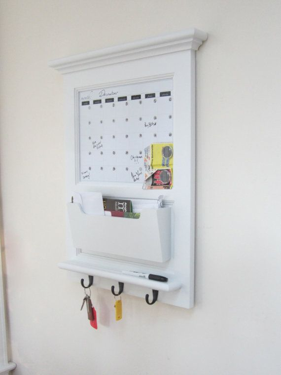 Calendar Wall Mail Organizer With Magnetic Dry Erase Whiteboard