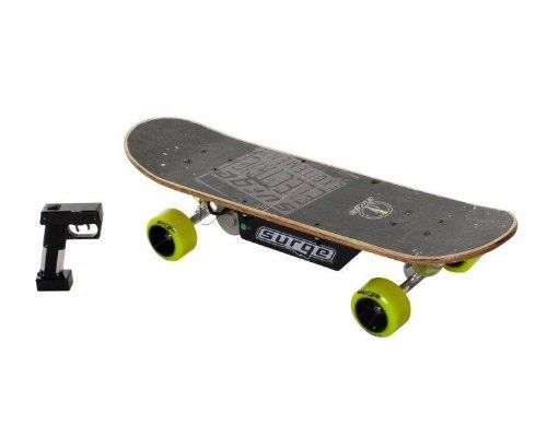 Dynacraft Surge Electric Skateboard, Black/Green
