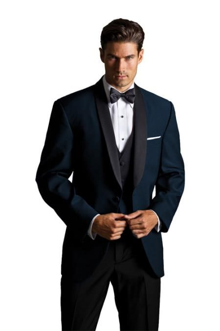 Men's Midnight Navy Blue #Shawl #Suit We Have Collection of Shawl ...