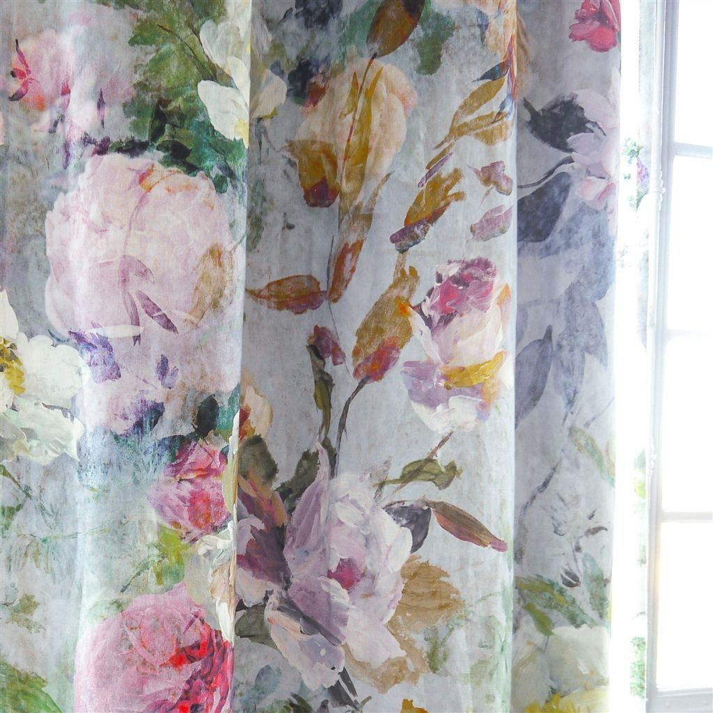 Marianne Fuchsia Fabric FDG2556/01 in 2020 Floral