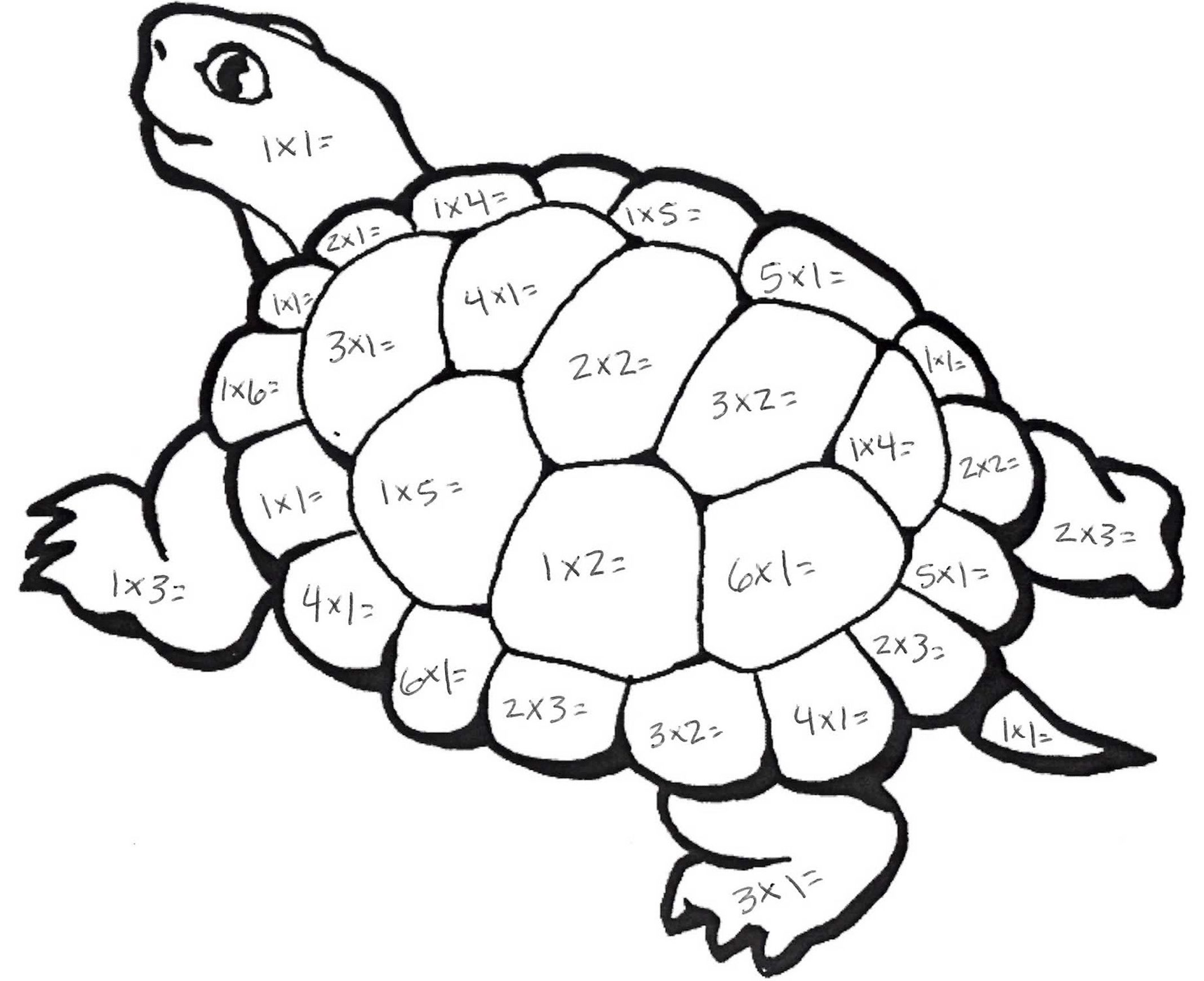 Uncategorized Colouring Maths Worksheets multiplication turtle education general pinterest turtle