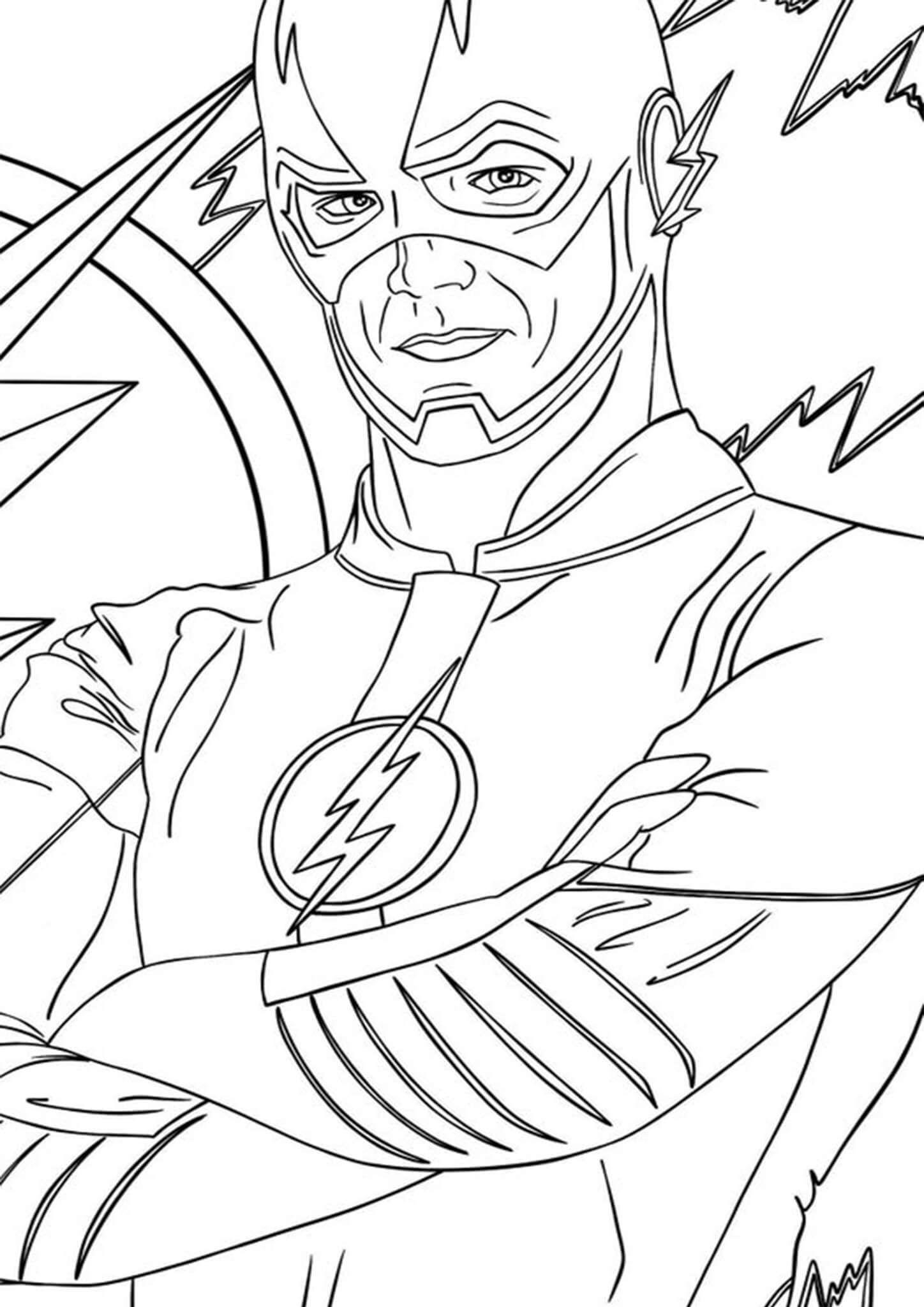 Free Easy To Print Flash Coloring Pages Superhero Coloring Pages Coloring Pages Superhero Coloring