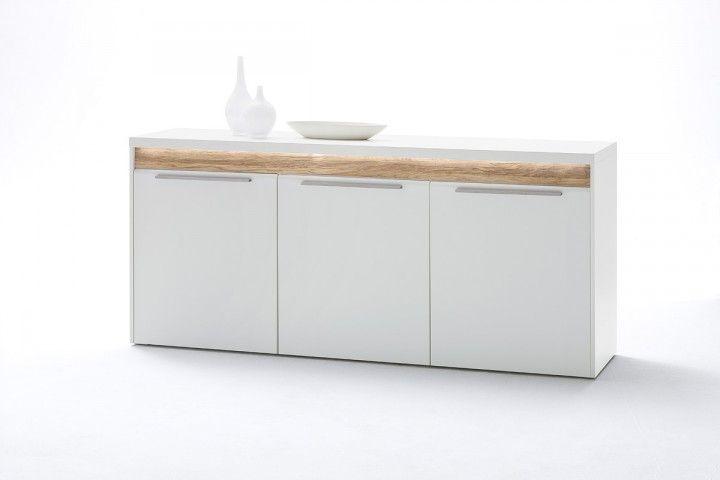 Weißes Sideboard Velvet inklusive LED #weiß #möbel #wohnzimmer