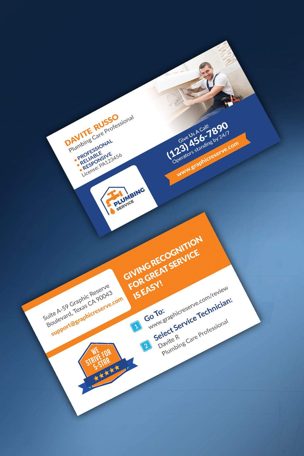Review Me Plumber Business Card Business Card Graphic Business Card Template Design Plumber