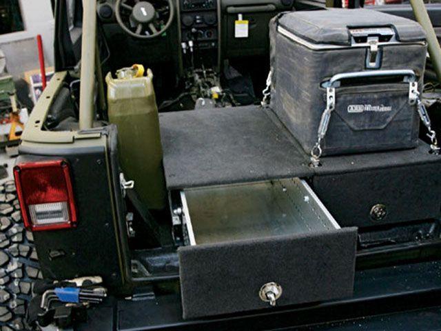 Rear Storage Jeep Truck Jeep Cool Jeeps