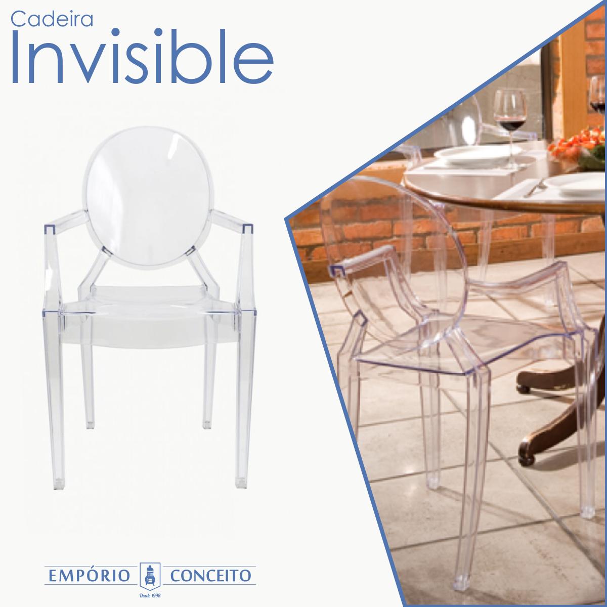 A Cadeira Invisible traz um design moderno à sua casa, muito mais estilo para qualquer ambiente. Pode ser usada na sala de jantar, no quarto ou como peça decorativa. Confortável e ergonômica, deixa qualquer ambiente mais sofisticado e moderno pois suas formas delicadas provocam a elegância do ambiente com um toque contemporâneo