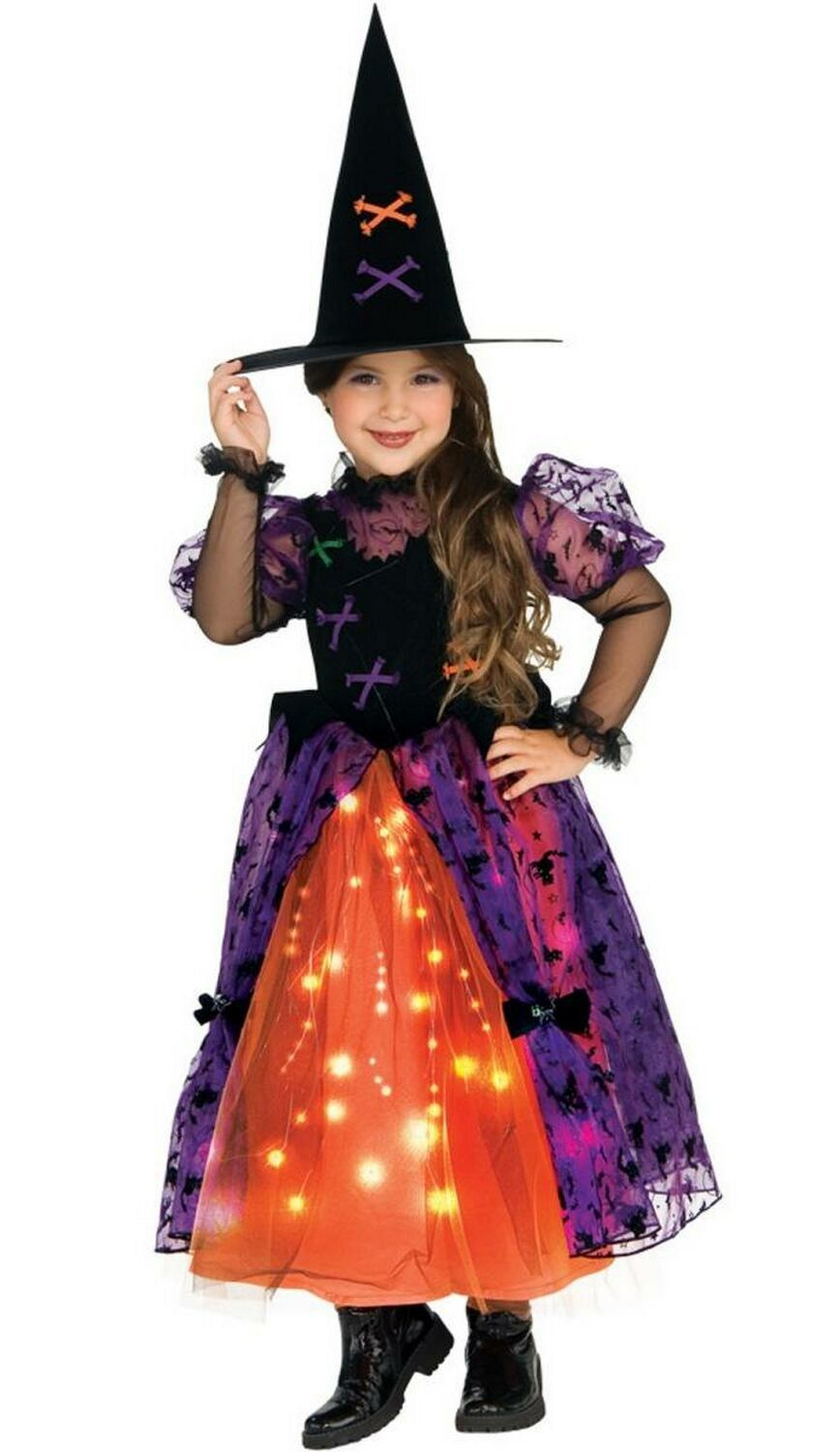 Pretty Light Up Witch Kids Costume   Witch Costumes   Pinterest ...